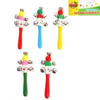 Погремушка с бубенцами клоун, цвета микс