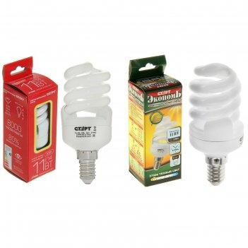 Лампа энергосберегающая, e14, 11 вт, spc, 2700 k