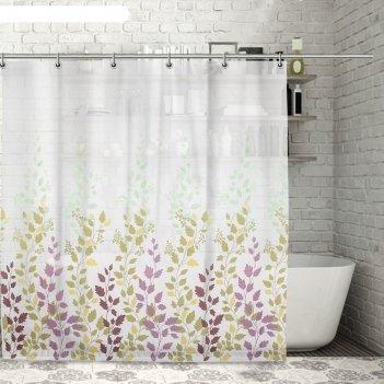 Штора для ванной осень