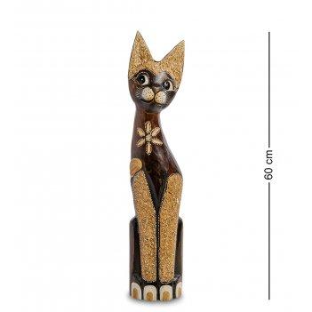 99-352 статуэтка кошка 60см (албезия, о.бали)
