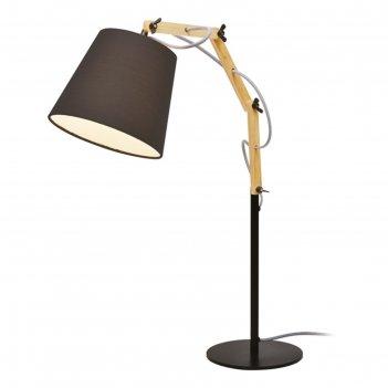 Настольная лампа pinocchio 1x60w e27 черный 20x55x63 см