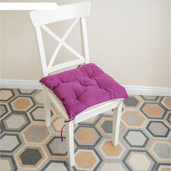 Подушка на стул, размер 45 x 45 см, цвет фуксия