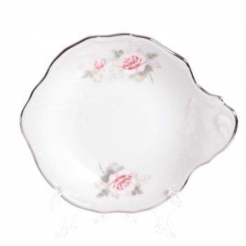 Набор розеток с ручкой bernadotte серая роза платина 13 см(6 шт)