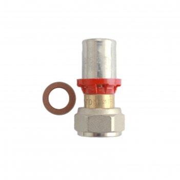 Муфта-пресс tdm brass 1626 1220, 1/2 х 20 мм, с накидной гайкой, латунь