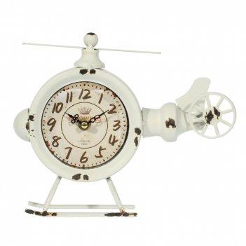 Часы настольные декоративные вертолет, l23 w7 h19 см, (1хаа не прилаг.)