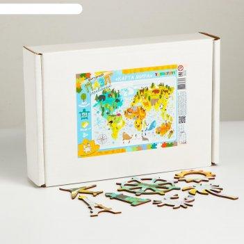 Конструктор - пазл карта мира