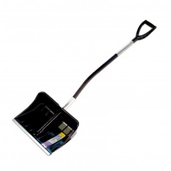 Лопата пластиковая, ковш 540 x 380 мм,с металлической планкой, металлическ