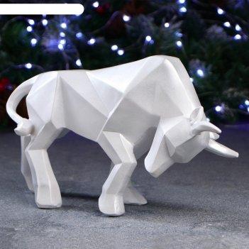 Фигура ортогональный бык 19 х 33 см, белый