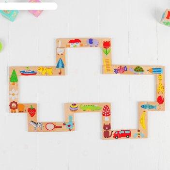 Домино детское весёлый зоопарк, 28 элементов