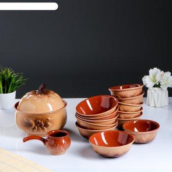 Набор посуды луговой 14 предметов