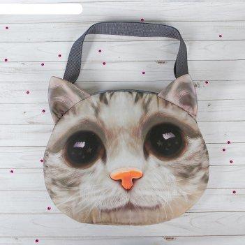 Мягкая сумка киса, большие глазки