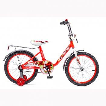Dk1203с 2-х колесный велосипед ba 1203с 12; со светящимися колесами, красн