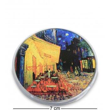 Pr-m08go зеркальце терраса кафе ле сойр ван гог (museum.parastone)