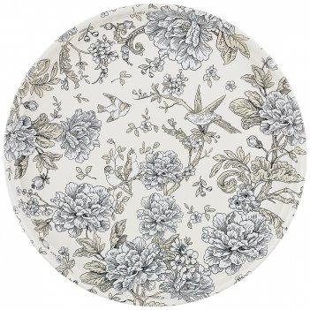 Поднос сервировочный agness royal garden 33*2,1 см
