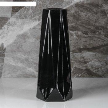 Ваза марокко, чёрный цвет, 34 см