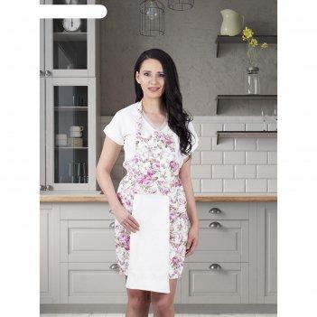 Фартук кухонный karna с салфеткой 30x50 см, 360 г/м2, цвет кремовый