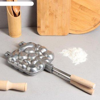 Форма для выпечки печенья «ракушки», с деревянными ручками