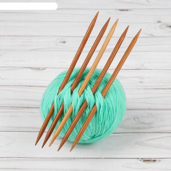 Спицы для вязания, чулочные, d = 6 мм, 20 см, 5 шт