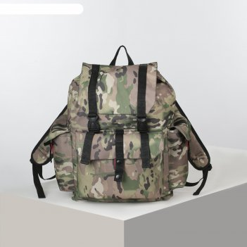 Рюкзак турист универ, 45л, отд на шнурке, н/карман, камуфляж