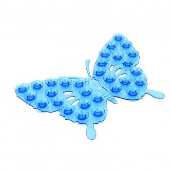 Мини-коврик для ванны «ажурная бабочка», 9x12 см, цвет микс
