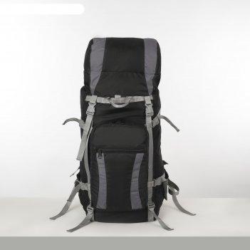 Рюкзак тур таймтур 4, 60л, отд на шнурке, н/карман, 2 бок сетки, черный/се