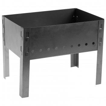 Мангал разборный эконом «сибирский пикник» сталь 0,5 мм, 350х240х280 мм