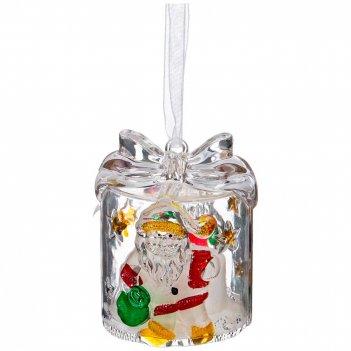 Изделие декоративное с подсветкой подарок высота=6 см.(мал=120шт./кор=480ш