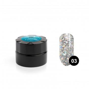 Гель для дизайна ногтей tnl winter fairytale №3 новогодний дождик, 6 мл