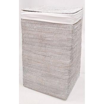Корзина д/белья с тканевым вложением