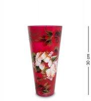 Vz-529 ваза стеклянная жостово h-300 (факел)