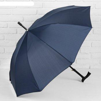 Зонт полуавтоматический «однотонный», 8 спиц, r = 51 см, цвет синий