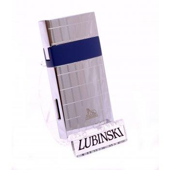 Зажигалка lubinski «мантуя» турбо, серебристая