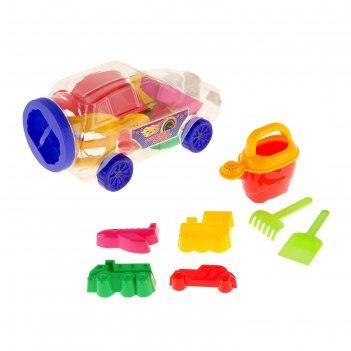 Песочный набор джип для мальчиков в упаковке-машинке