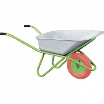 Тачка садово-строительная с pu колесом, грузоподъемность 180 кг, объем 90