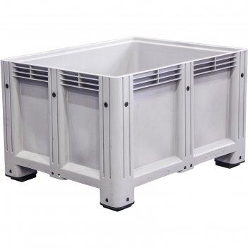 Big box 1200x1000x760 мм сплошной на ножках серый