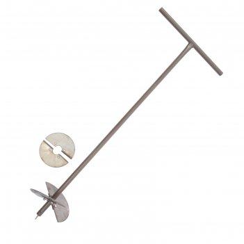 Бур садовый (2 ножа: 15 см, 20 см), ручка 1 метр