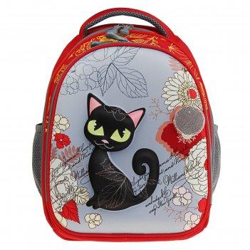 Рюкзак каркасный luris 38*28*18 джерри 4 3d для девочки «кошка»