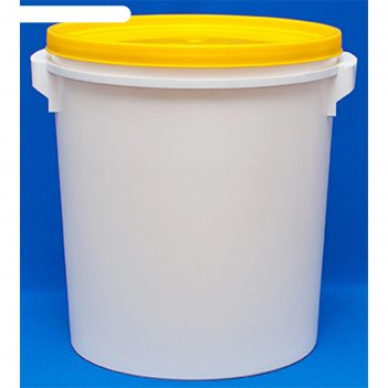 Пластиковое ведро-бак, вб 32, 38,4х38,4х37см, белое