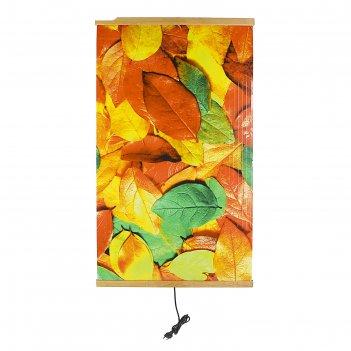 Обогреватель «домашний очаг», картинка «листья», инфракрасный, 500 вт, 105
