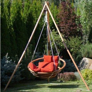 Подвесное кресло качели lite майя set, садовая мебель