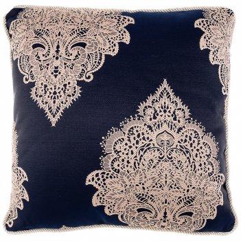 Подушка декоративная купрум 45х45см,100% п/э,синий.