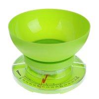 Весы кухонные sakura sa-6008gr, до 3кг, механические, зеленые