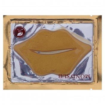 Маска для губ морской коллаген+биозолото mondsub, 8гр