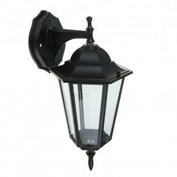 Светильник tdm, садово-парковый, шестигранник, 60 вт, вниз, черный, в разб
