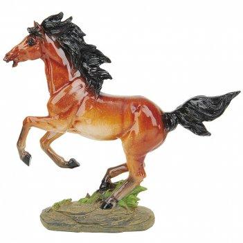 Фигурка декоративная рыжий конь h=25,5см. l=27см. (транспортная упаковка)