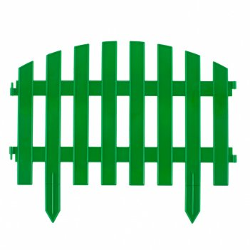 Забор декоративный винтаж 28 x 300 см, зеленый россия palisad