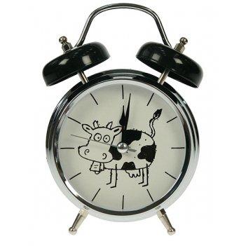 Часы настольные корова с функ. будильника 12*6*17см