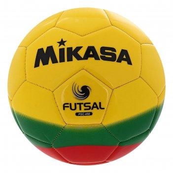 Мяч футзальный mikasa fsc-450, р.4, желто-зелено-красный