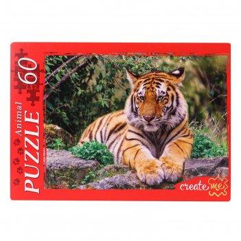 Пазлы 60 эл. задумчивый тигр п60-0623