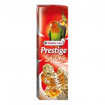Палочки versele-laga prestige палочки для средних попугаев, с орехами и ме